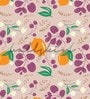 Purple Non Woven Paper The Leaf's And Lemons Wallpaper by Wallskin