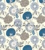 Yellow Non Woven Paper The Wild Flower Wall Wallpaper by Wallskin