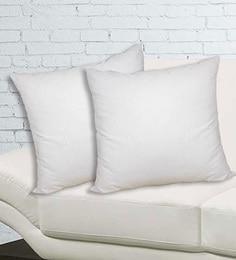 Welhome White 100% Cotton 16 X 16 Inch Snapshot Filler Cotton - Set Of 2