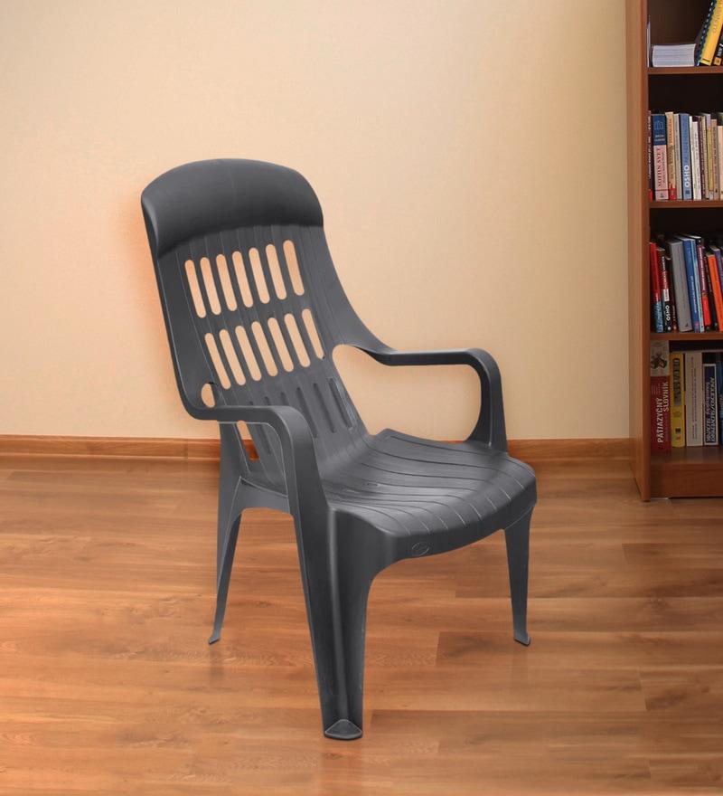Weekender Garden Chair in Black Colour by Nilkamal