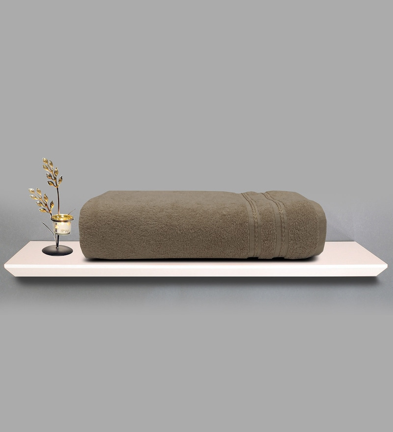 Camel 100% Cotton 30 x 60 Inch Fabulox Towel by Welhome
