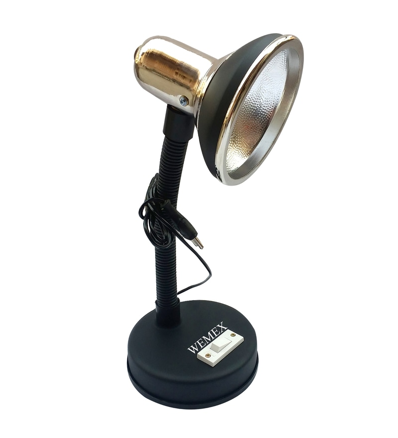Black Aluminium Study Lamp by Wemex