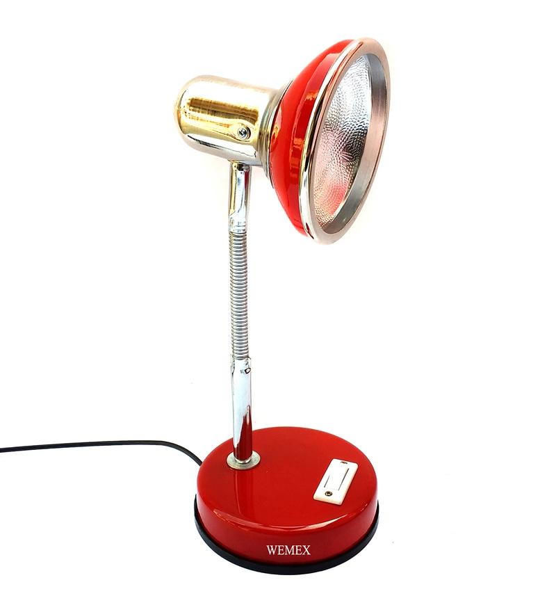 Red Aluminium Study Lamp by Wemex