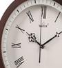 Brown Glass & MDF 12 Inch Round Wall Clock by Wertex