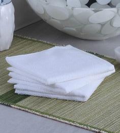 White 100% Cotton Face Towel - Set Of 3