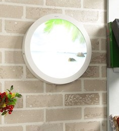 White Aluminium 24 W Round LED Picture Wall Light Scenery Light Special Beach Nature
