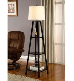 White Cotton Floor Lamp