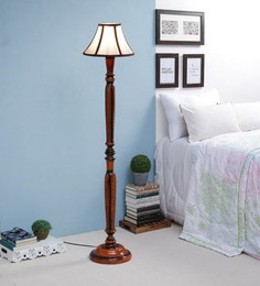 White Fabric Floor Lamp - 1693735