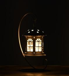 White Metal & Glass Chateau Tea-Light Holder