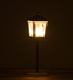 White Metal & Glass Oxford Post Tea-Light Holder