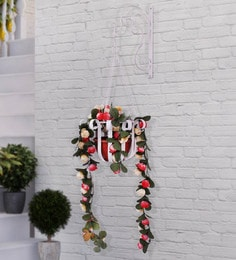 White Mild Steel Wall Hanging Flower Holder By Home Sparkle