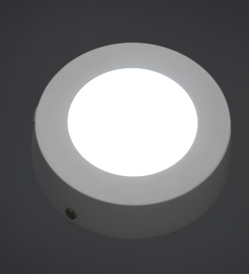 White 6W Aluminium Recessed Light by Patco Electricals