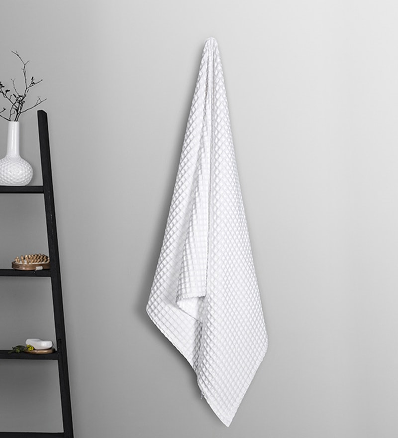 White Cotton 30 x 60 Inch Bath Towel by Vista Home Fashion