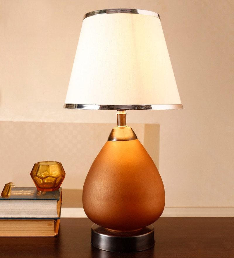 White Cotton Table Lamp by Anasa