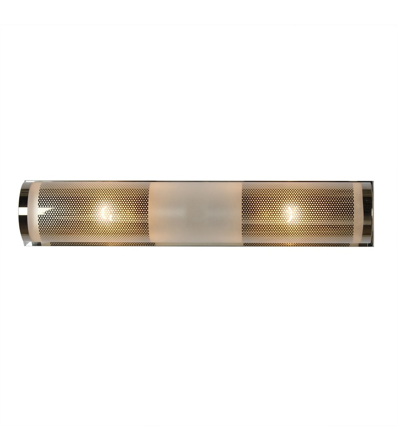 White Glass & Metal Wall Light by Kapoor E Illuminations