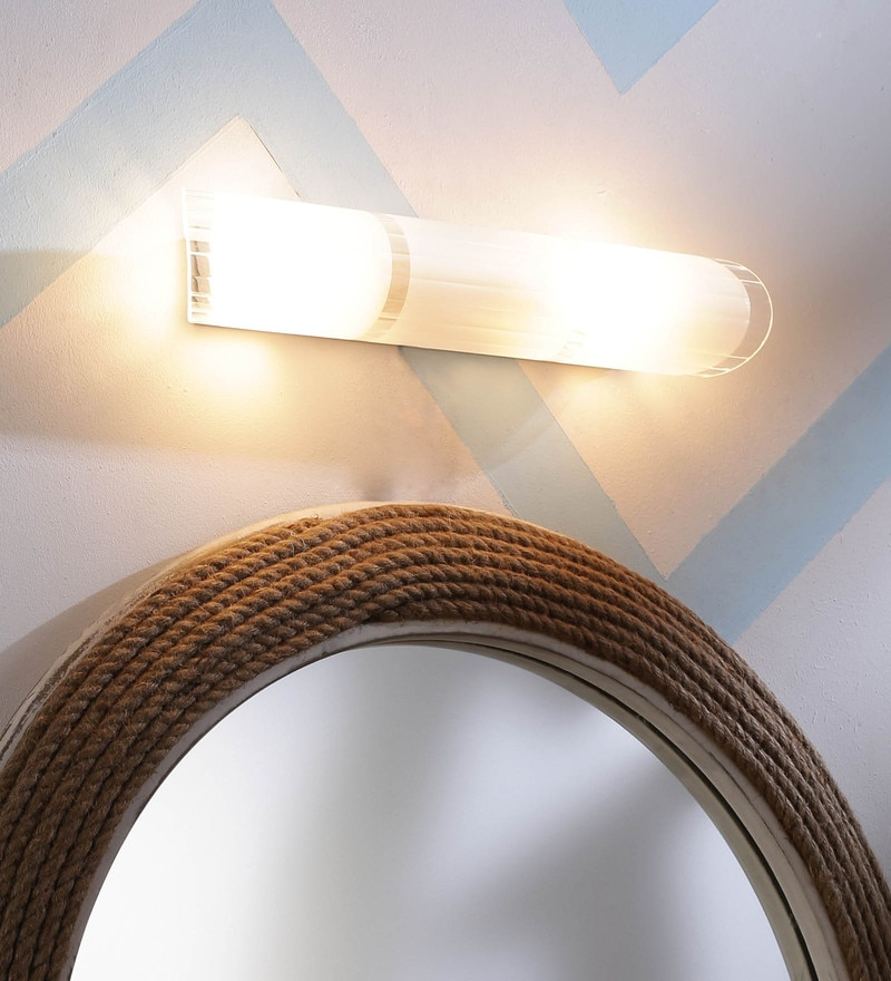 White Glass Bathroom Light by Aesthetics Home Solution