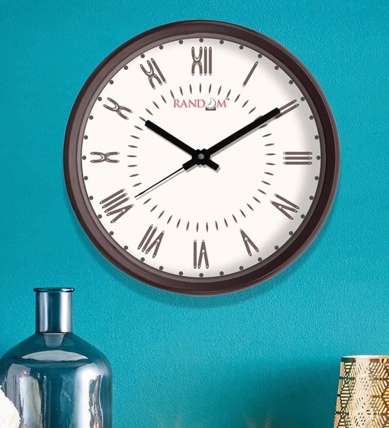 White Plastic 12 x 2 x 12 Inch Daisy Wall Clock by Random