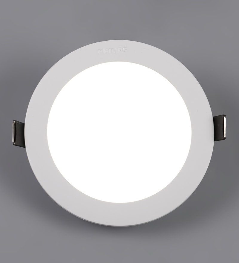 White Plastic Astra Prime 10 W Recessed Ceiling Light by Philips