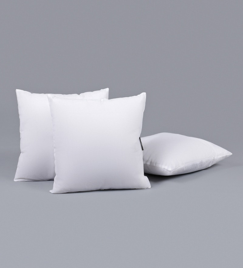 White Polyester 12 x 12 Inch Pillow Insert by SWHF