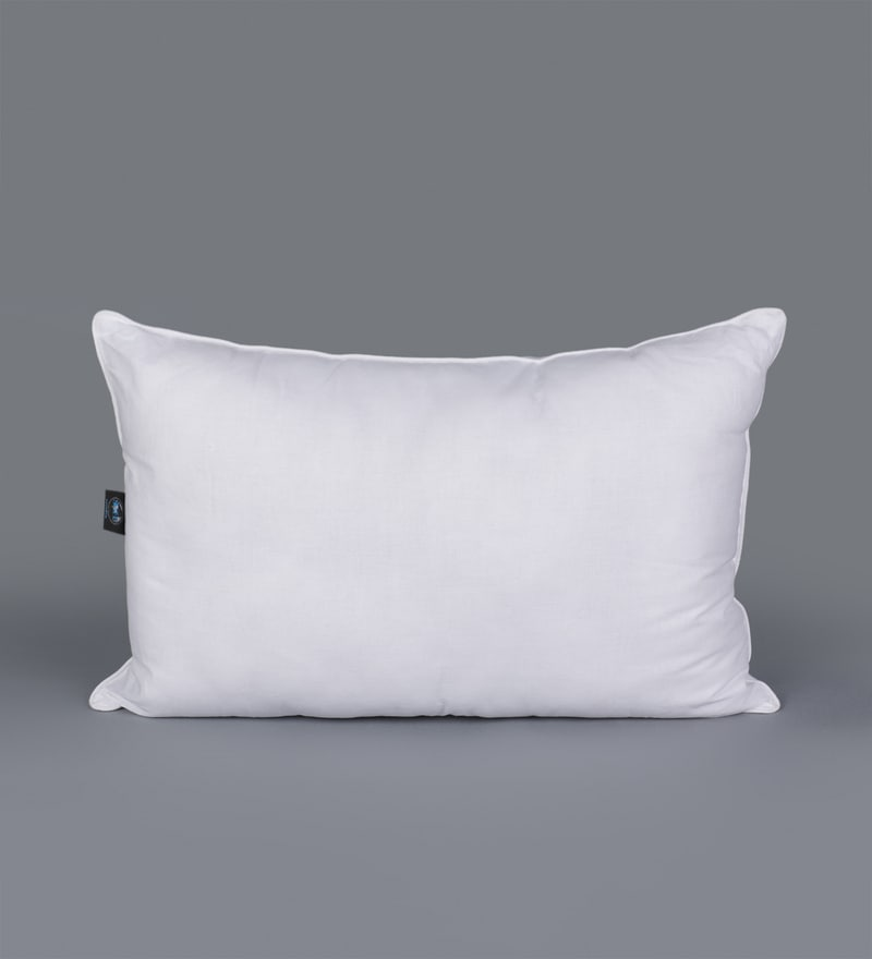 White Polyester 17 x 24 Inch King Pillow by SWHF