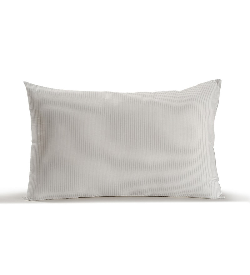 White Polyester 17 x 27 Inch Pillow Inserts by Swayam