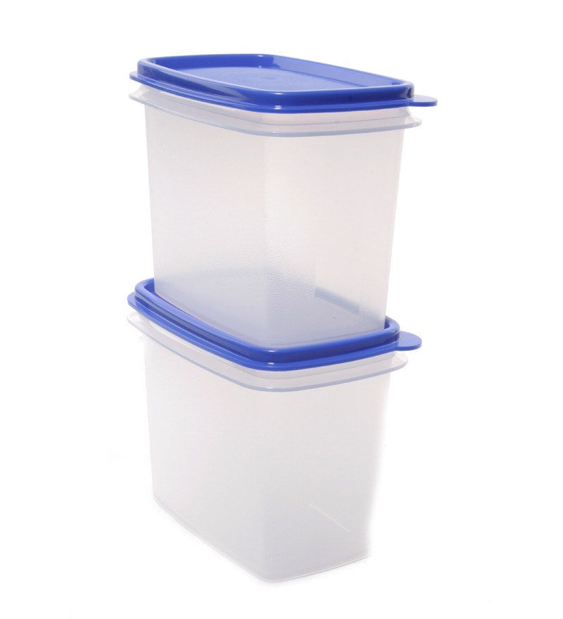 Buy Tupperware Within Reach White Amp Blue 800 Ml Each Dry