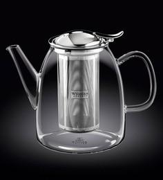 Wilmaxengland Thermal Glass Tea Pot 51 Oz -1500 Ml