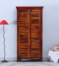 Winlock Wardrobe In Honey Oak Finish By Woodsworth