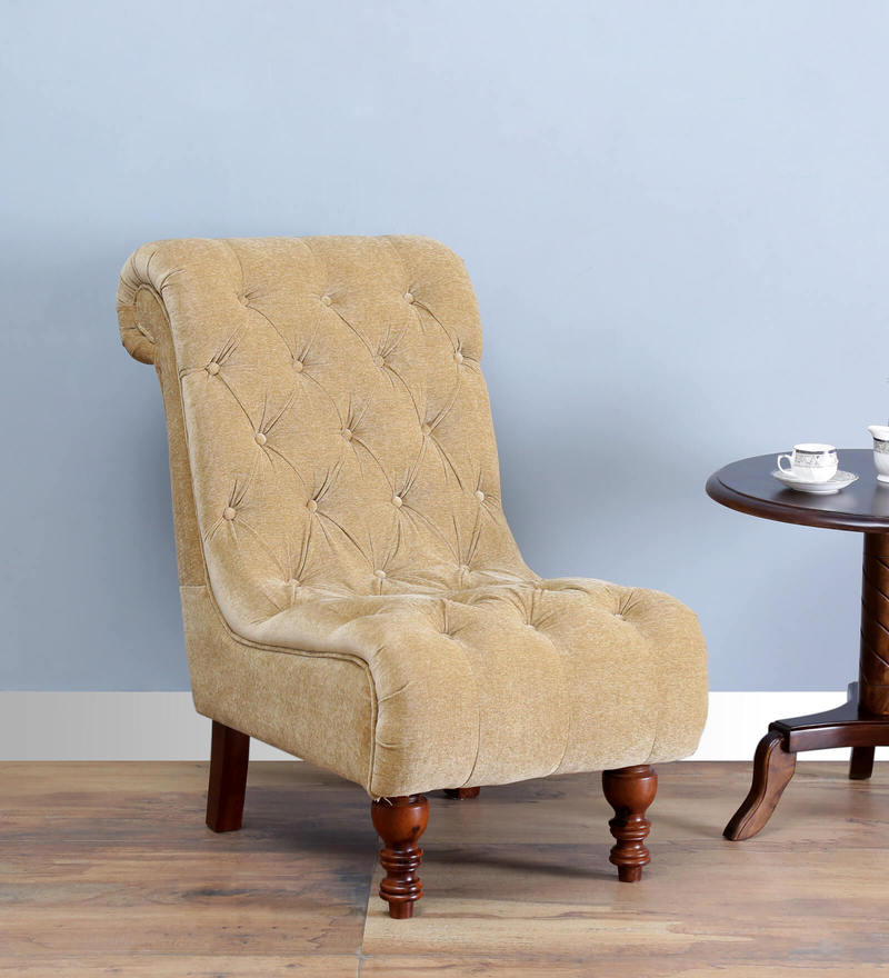 Malyon Accent Chair in Honey Oak Finish by Amberville