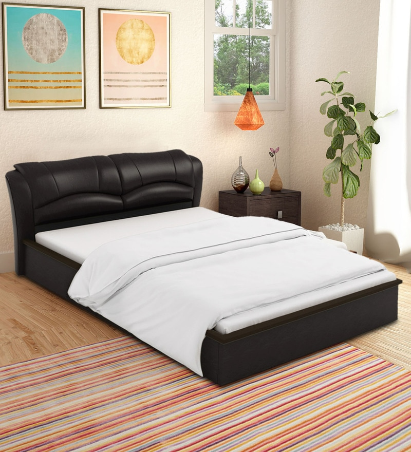 Buy Winston King Size Leatherette Upholstered Bed With Hydraulic