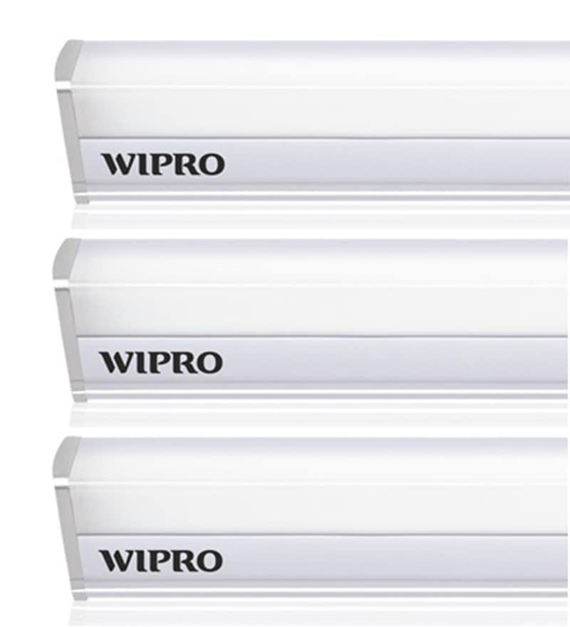 Wipro Garnet Plus 22W 3 Colour Changing LED Batten Tubelight - Set of 3