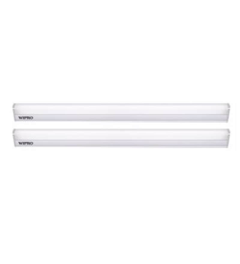 Wipro Garnet Warm White 10 W LED Battens - Set of 2