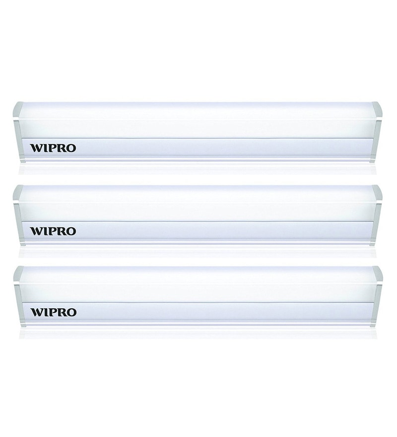 Wipro Garnet Warm White 5W LED Batten Tubelight - Set of 3
