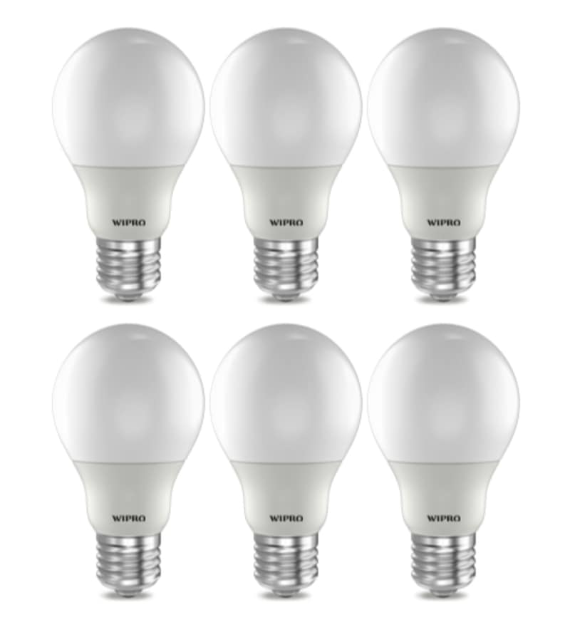 Wipro Warm White 3 W E27 LED Bulb - Set of 6