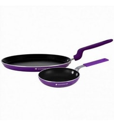 Wonderchef Elite Dm Set Purple Aluminum With Non-Stick Coating Cookware Sets - Set Of 2