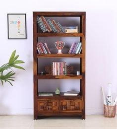Woodway Book Shelf In Provincial Teak Finish