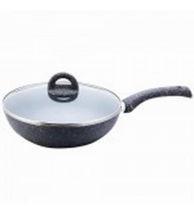 Aluminium Grey Kadhais & Woks by Wonderchef