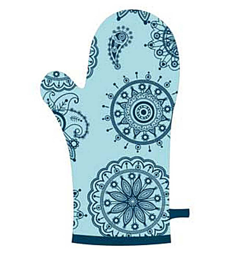 Wonderchef Fabric Oven Mitt in Oscar Blue
