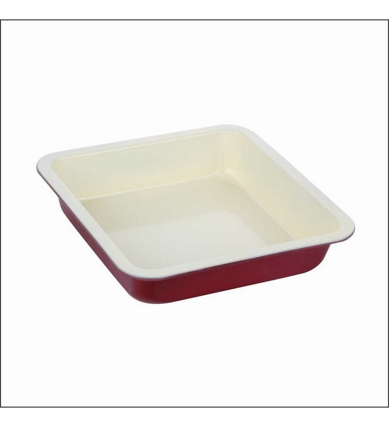 Wonderchef Carbon Steel 23 cm Square Cake Mould