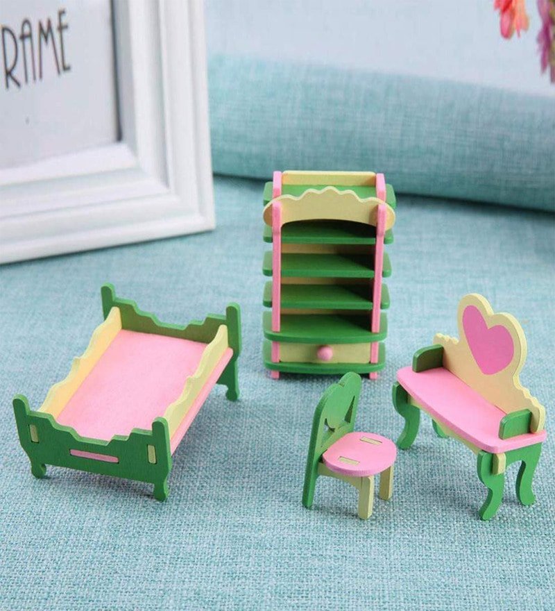 Buy Wooden Doll House Dining Room Furniture Play Set in ...