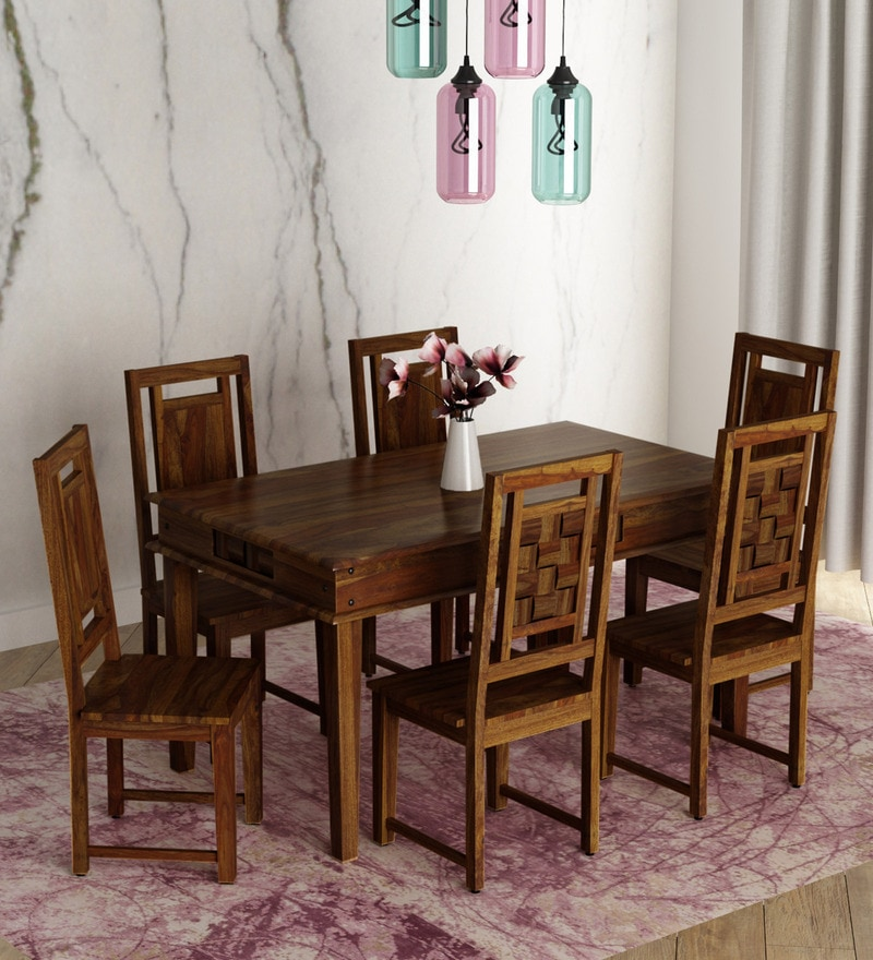 Clic Six Seater Dining Set With Oval Shaped Table In