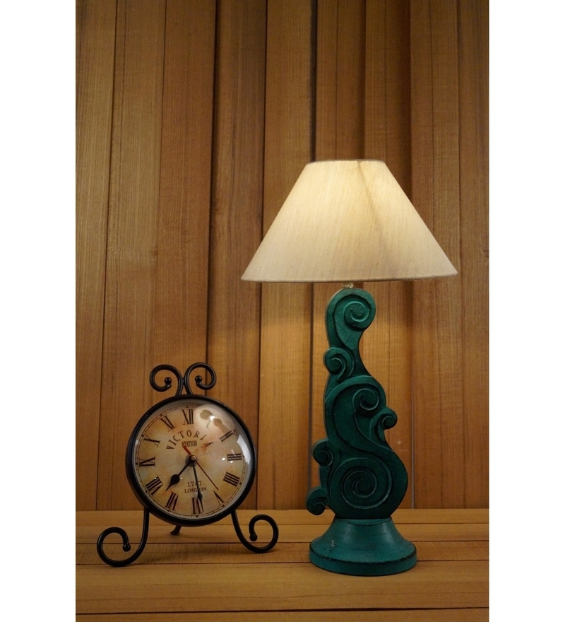 Khadi Poly Cotton Table Lamp by Woody Lamp House