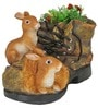 Shoe With Rabbits With Flower ( 1.4 Kg ) by Wonderland