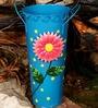 Metal Flower Vase in Blue by Wonderland