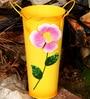 Metal Flower Vase in Yellow by Wonderland