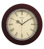 Brown Glass & MDF 13.2 Inch Round Wall Clock by Wood Craft