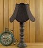 Woody Lamp House Black Jute Table Lamp
