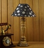 Black Poly Cotton Table Lamp by Woody Lamp House