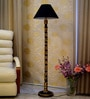Woody Lamp House Black Poly Cotton Floor Lamp