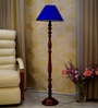 Blue Poly Cotton Floor Lamp by Woody Lamp House